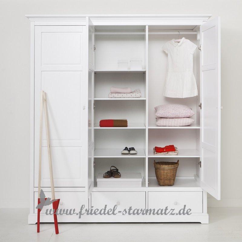 Oliver Furniture Kleiderschrank 3 Turig H195 L Weiss