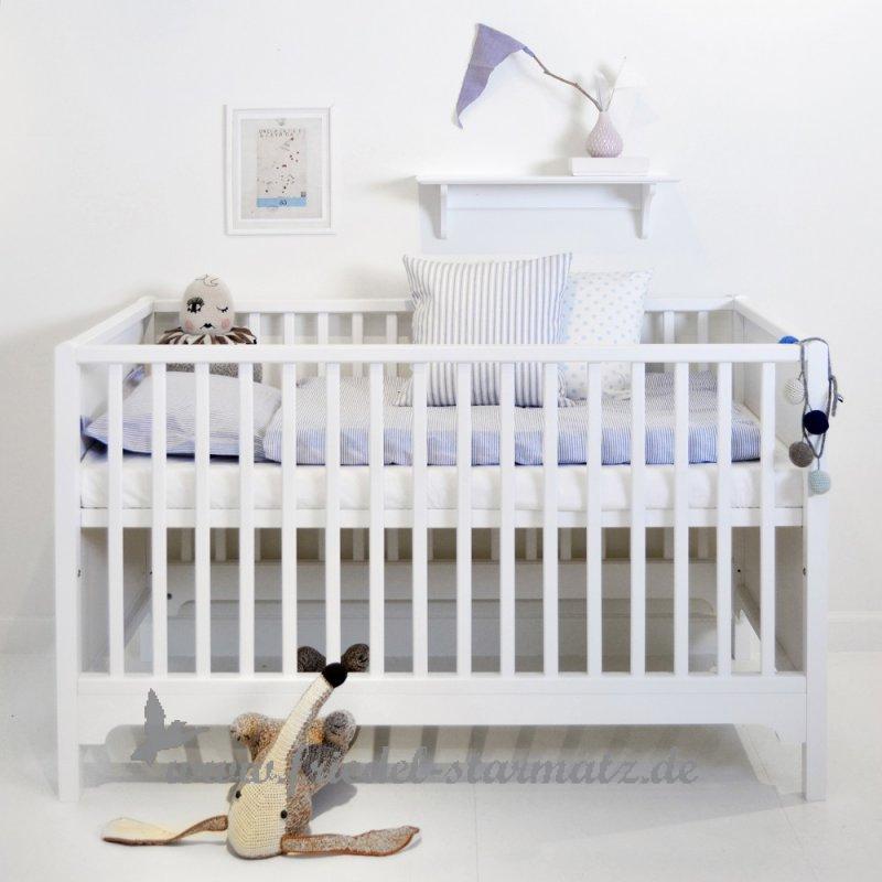 oliver furniture seaside baby und kinderbett 70x140 cm l weiss kindermode onlineshop. Black Bedroom Furniture Sets. Home Design Ideas
