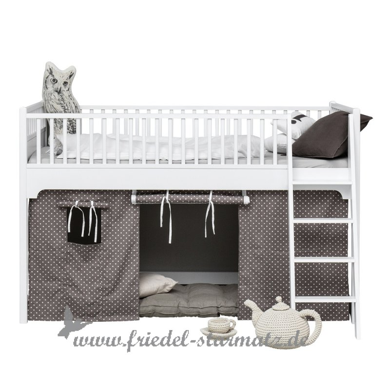 oliver furniture seaside halbhohes hochbett 90x200 cm l weiss kindermode onlineshop friedel. Black Bedroom Furniture Sets. Home Design Ideas