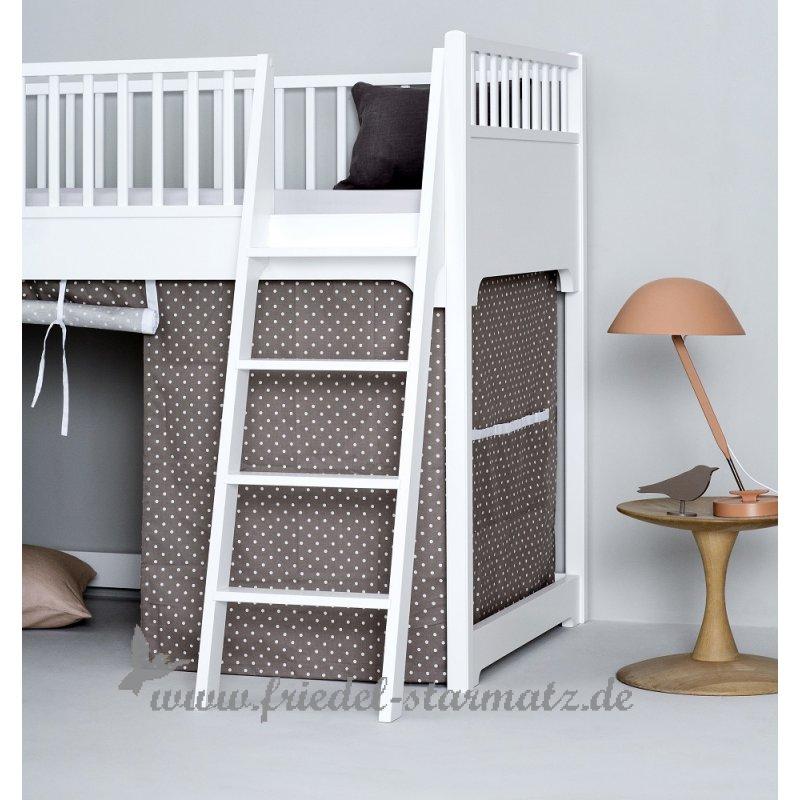 Hochbett kinder weiss  Oliver furniture - Seaside Halbhohes Hochbett 90x200 cm l Weiss ...