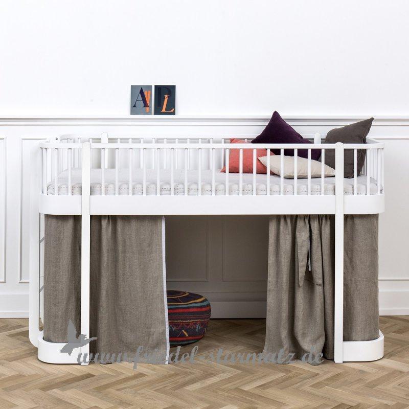 oliver furniture wood halbhohes hochbett 90x200 cm. Black Bedroom Furniture Sets. Home Design Ideas