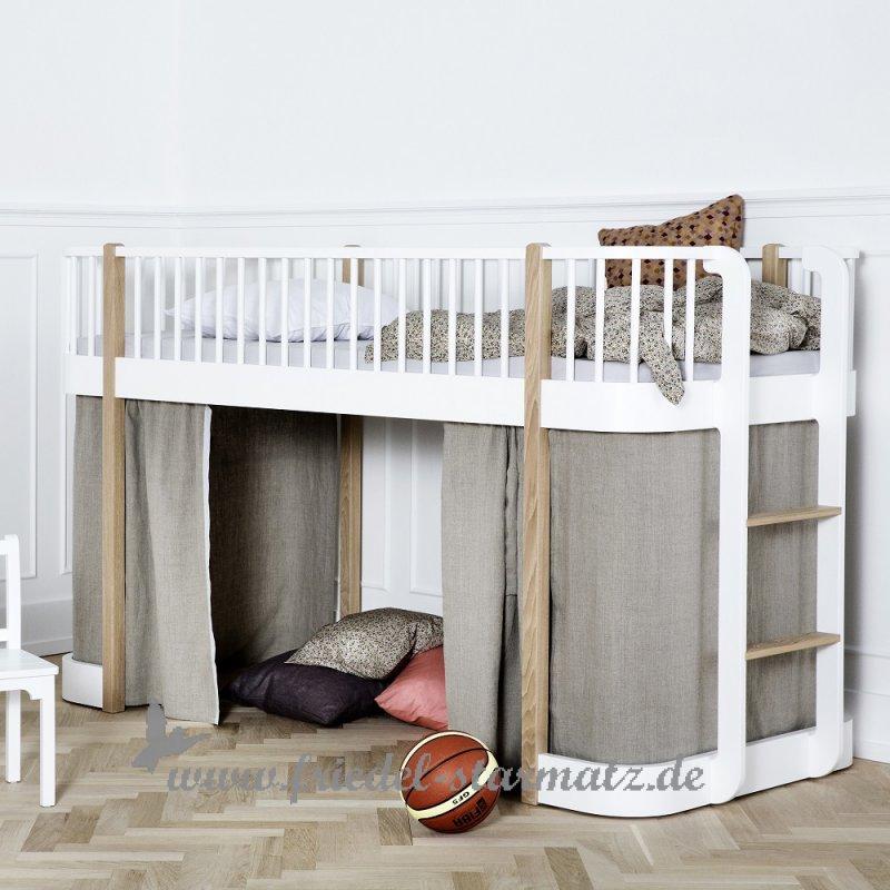 Oliver Furniture Wood Halbhohes Hochbett 90x200 Cm Kindermode