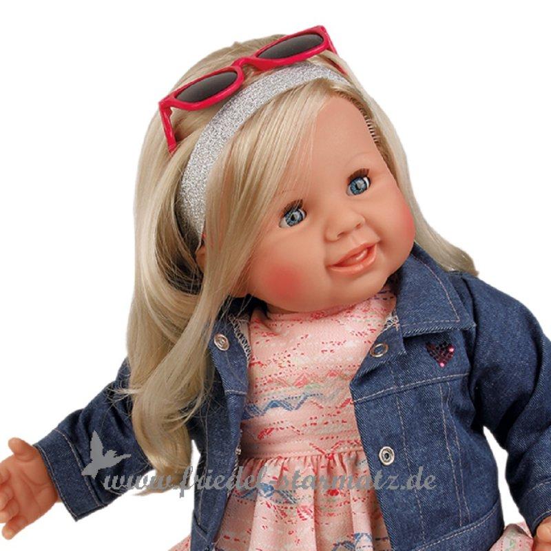 b97e03bf576e11 Schildkroet-Puppen - KLARA Puppe mit blondem Haar + Schlafaugen l 52 cm