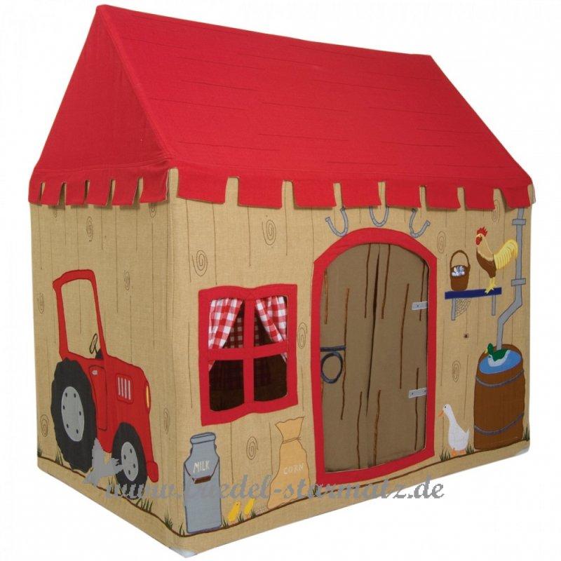 win green spielhaus bauernhof l barn kindermode onlineshop friedel starmatz einrichtung. Black Bedroom Furniture Sets. Home Design Ideas