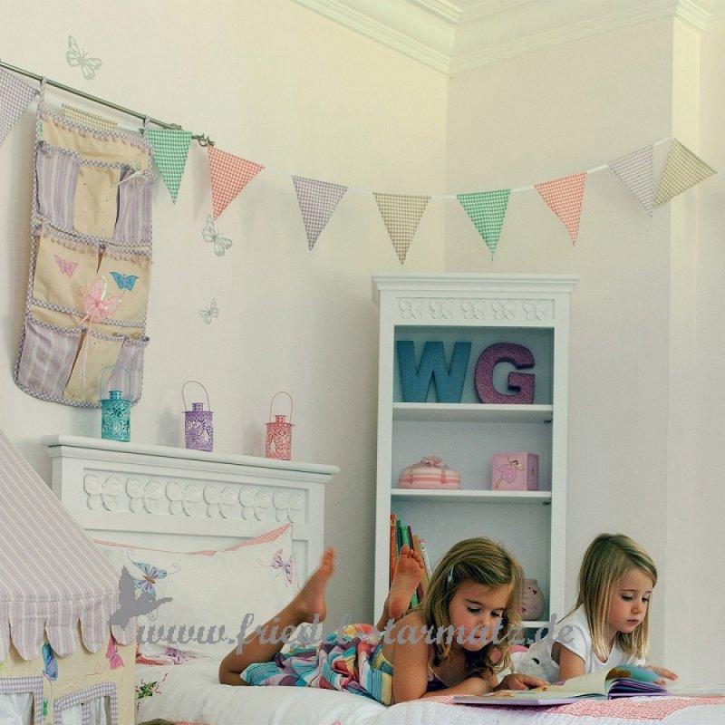 Kinderzimmer Wimpelkette | Win Green Wimpelkette Bunting L Mini Gingham Kindermode
