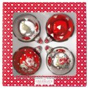 GREENGATE - XMAS Ball HAVEN Baumkugel 4er Set l Red