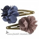 Maileg - Hair Clips, FLUFFY Flowers - 2 Stück l Denim