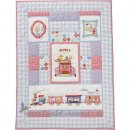 Room Seven - Quilt 90x125, Happy Family Zug & Tiere l Blue