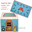 Win Green - SET Spielhaus GARAGE + QUILT