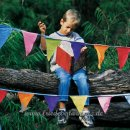 Win Green - Wimpelkette Bunting l Multicoloured Plain