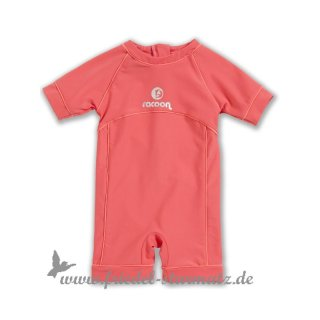 Racoon - Swim baby girl jumpsuit 50+ l Papaya