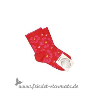 MP Socks - Anklesock Flowers l Rot Blume 29-32