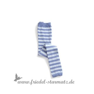 MP Socks - Legging 2-Col Lurex Stripe l Blau