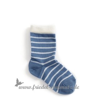 MP Socks - Anklesock French Stripe (Gr. 22-39 ) Blau