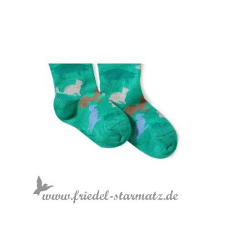 MP Socks - Tights Farm l gruen mit Tieren