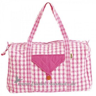 Win Green - Weekend Bag - Pink Gingham